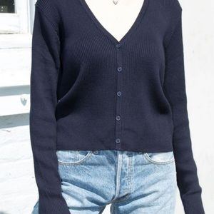 Brandy Melville Sweaters - Brandy Melville dupe!! Navy cardigan